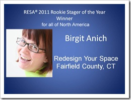 Birgit Anich Rookie Stager 2011 | RESA Convention 2011–What a Great Experience this was - RESA-Rookie-Stager-of-the-Year-2011