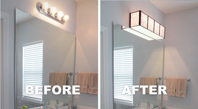 Old Hollywood Lighting Intended Hollywood Light Before After Home Staging Tip Easy Hollywood Lighting Update