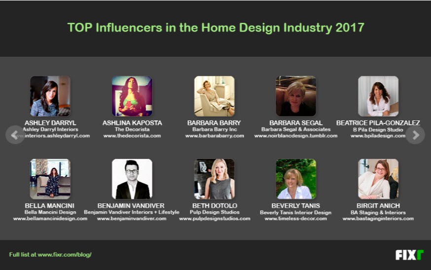home design influencers