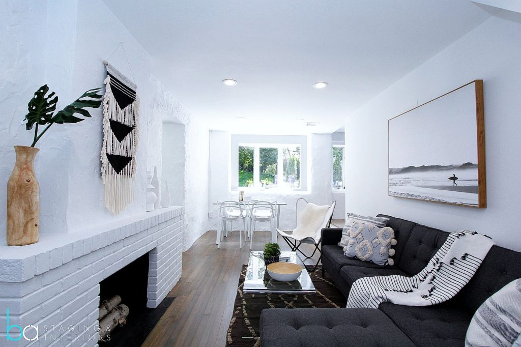 Greenwich home staging - living room